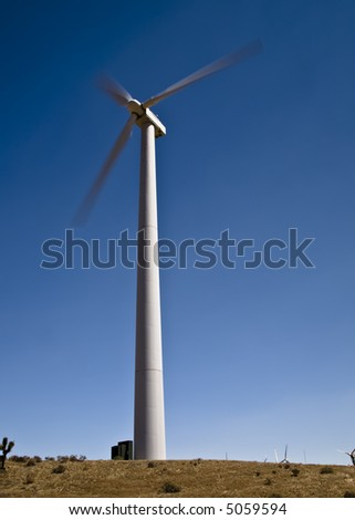 Wind farm near Tehachapi, California - stock photo
