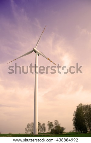 Wind farm on a country road