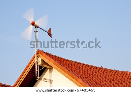 Wind generator in a strong wind, Kohloy Sriracha Thailand. - stock photo