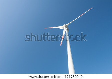 Wind generator propeller - stock photo