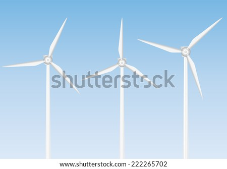 wind generator set illustration.