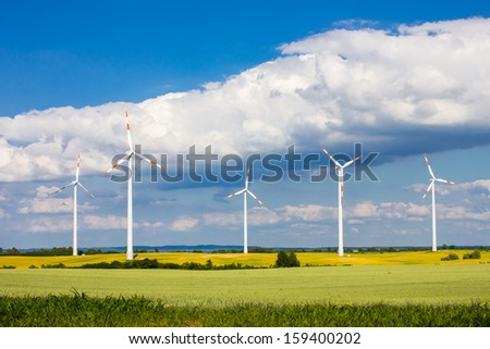 Wind Generator to generate energy - stock photo