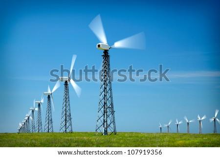 Wind Generators - stock photo