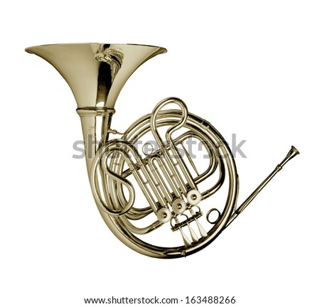 Wind Instrument / French Horn - stock photo
