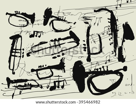 Wind instruments  - stock photo