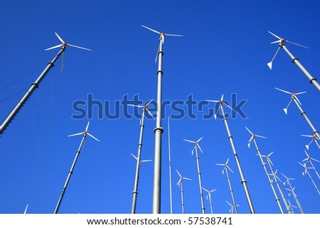 Wind Mill for Electricity Generation in Thailand - stock photo