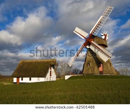 Wind mill in Denmark - stock photo