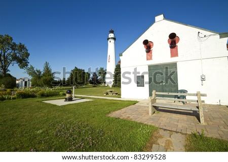 Wind Point Lighthouse - stock photo