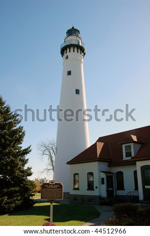Wind Point Lighthouse on Lake Michigan