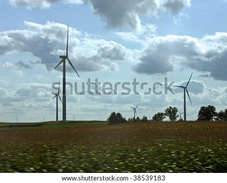 Wind Power in Wisconsin - stock photo