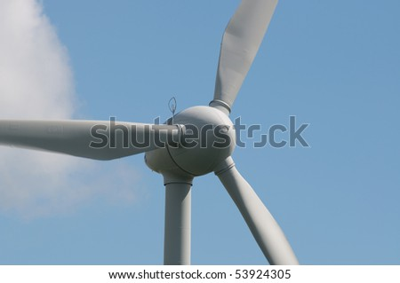 wind power station - stock photo