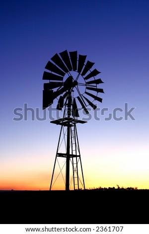Wind pump 3 - stock photo