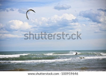 wind surf - stock photo