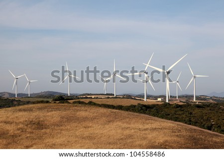 Wind tubines in Andalusia, Spain