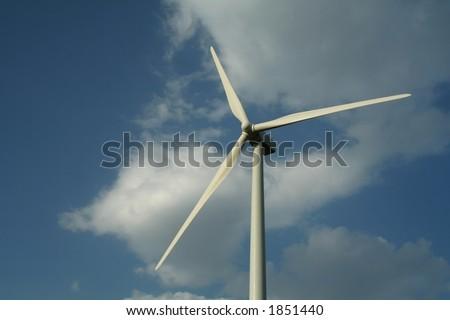 Wind turbine - alternative power - stock photo