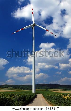 Wind turbine energy - stock photo