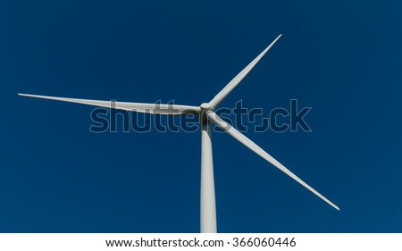 Wind turbine fields. Wind turbines generating electricity. Renewable Energy. Alternative energy. - stock photo