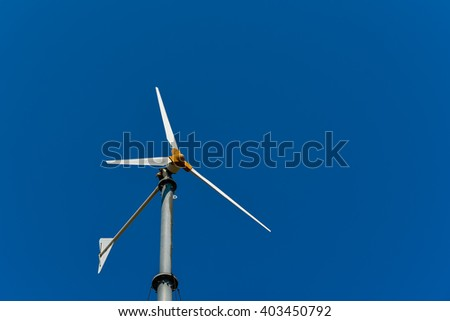 Wind turbine for electric power production. Wind power. - stock photo