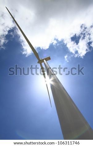 Wind turbine generator - stock photo