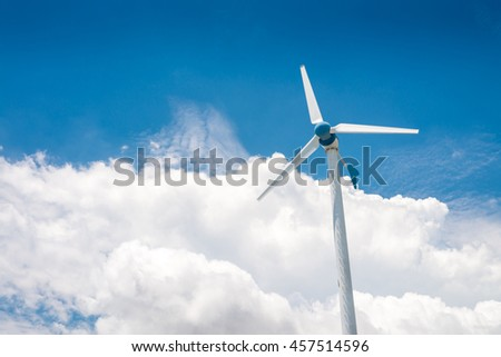 Wind turbine generators at Leam Chabang, Thailand.