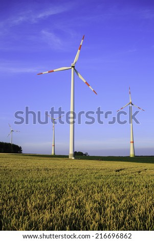 wind turbine in the country side