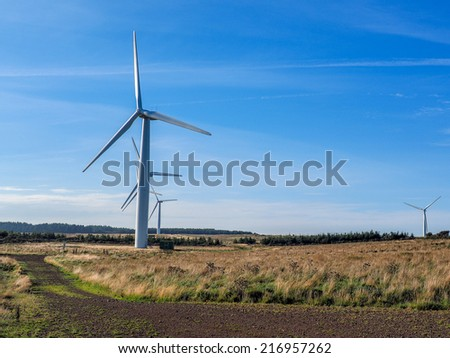 wind turbine in the country side - stock photo