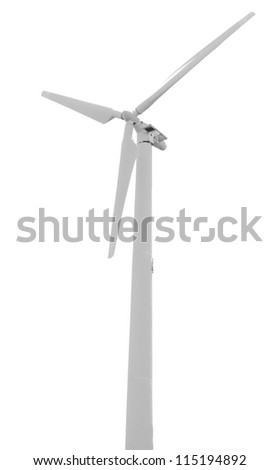wind turbine isolated on white