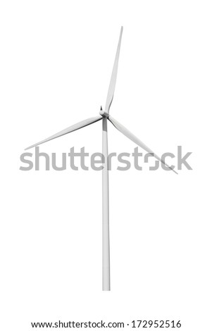 Wind turbine isolated with clipping path