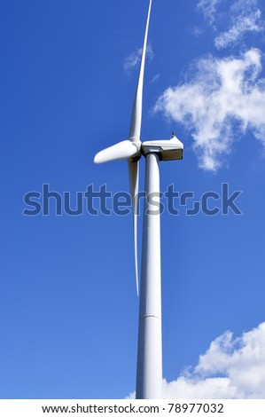 Wind turbine, Mountaineer Wind Energy Center, Tucker County, West Virginia, USA - stock photo