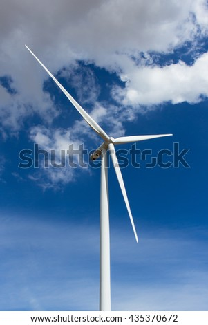 wind turbine on the sky.
