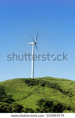 Wind turbine on wind farm