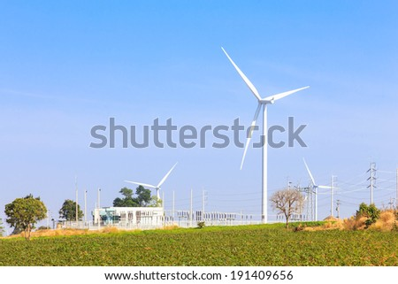 Wind turbine power generator and electric station