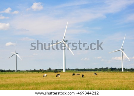 Wind Turbines - alternative energy source. Esbjerg, Denmark
