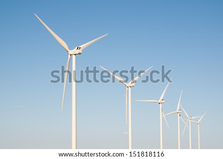 Wind turbines farm in Limon, Colorado.