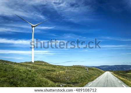 Wind turbines in Norway