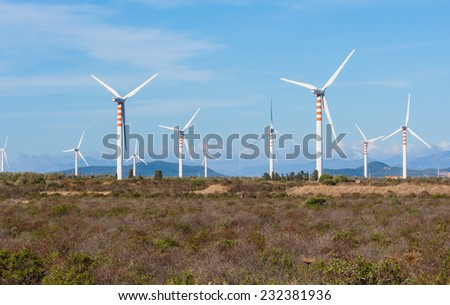 Wind Turbines in the country - stock photo