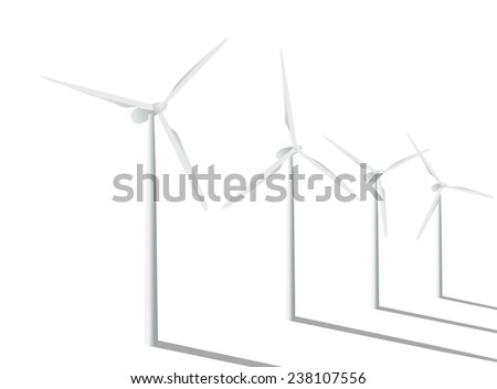 Wind turbines in the field. - stock photo