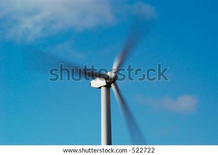 Wind turbines near White Deer, Texas. - stock photo