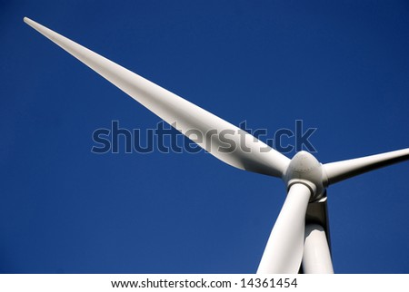 Wind turbines producing clean energy in the netherlands - stock photo