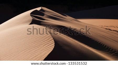 Windblown Sand Dune - stock photo