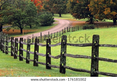 Winding Country Road - stock photo