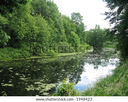 Winding River - stock photo
