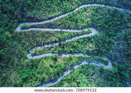 Winding Road Aerial Photography