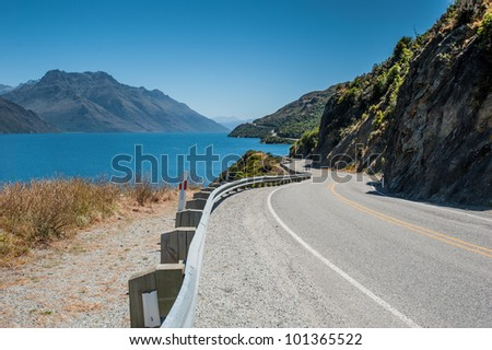 Winding Road and Turquoise Lake