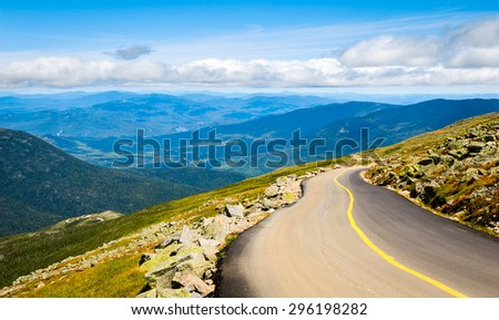 Winding Road at Appalachian Mountains - stock photo