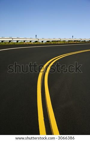 Winding road in Haleakala National Park, Maui, Hawaii. - stock photo