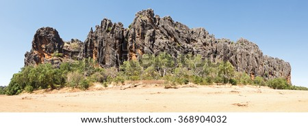 Windjana Gorge National Park is part of a 375 million-year-old Devonian reef system. Carved by the Lennard River, Windjana Gorge is over three kilometres long. Many crocodiles live here
