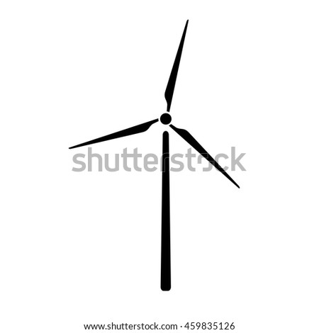 Windmill, alternative and renewable energy supply source. Icon of windmill and wind energy