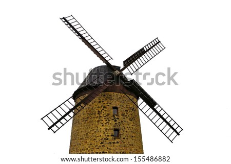 Windmill at Warnstedt in the Harz - stock photo
