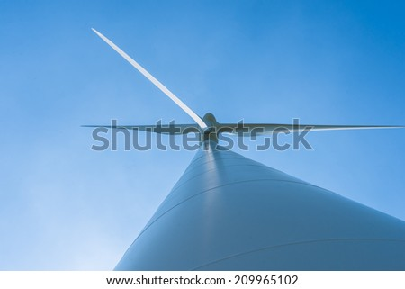 windmill close up for electric power production